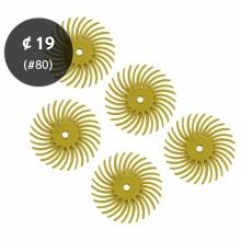 """브리슬 디스크 #80, ¢19(3/4"""")-노란색"""